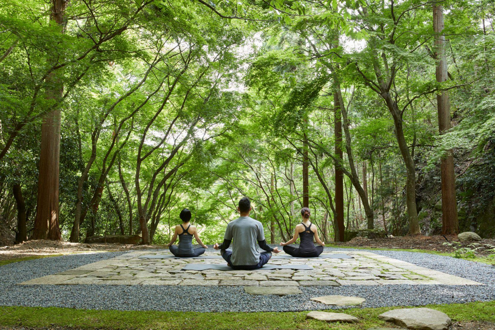 Aman Kyoto, Japan, Meditation at temgamine garden