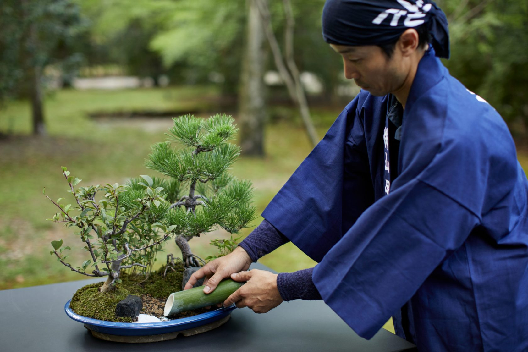 Aman Kyoto, Japan, Miniature Garden making experience