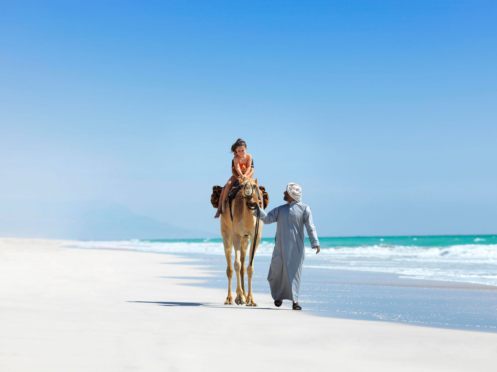 Al Baleed Resort by Anantara Kamelreiten