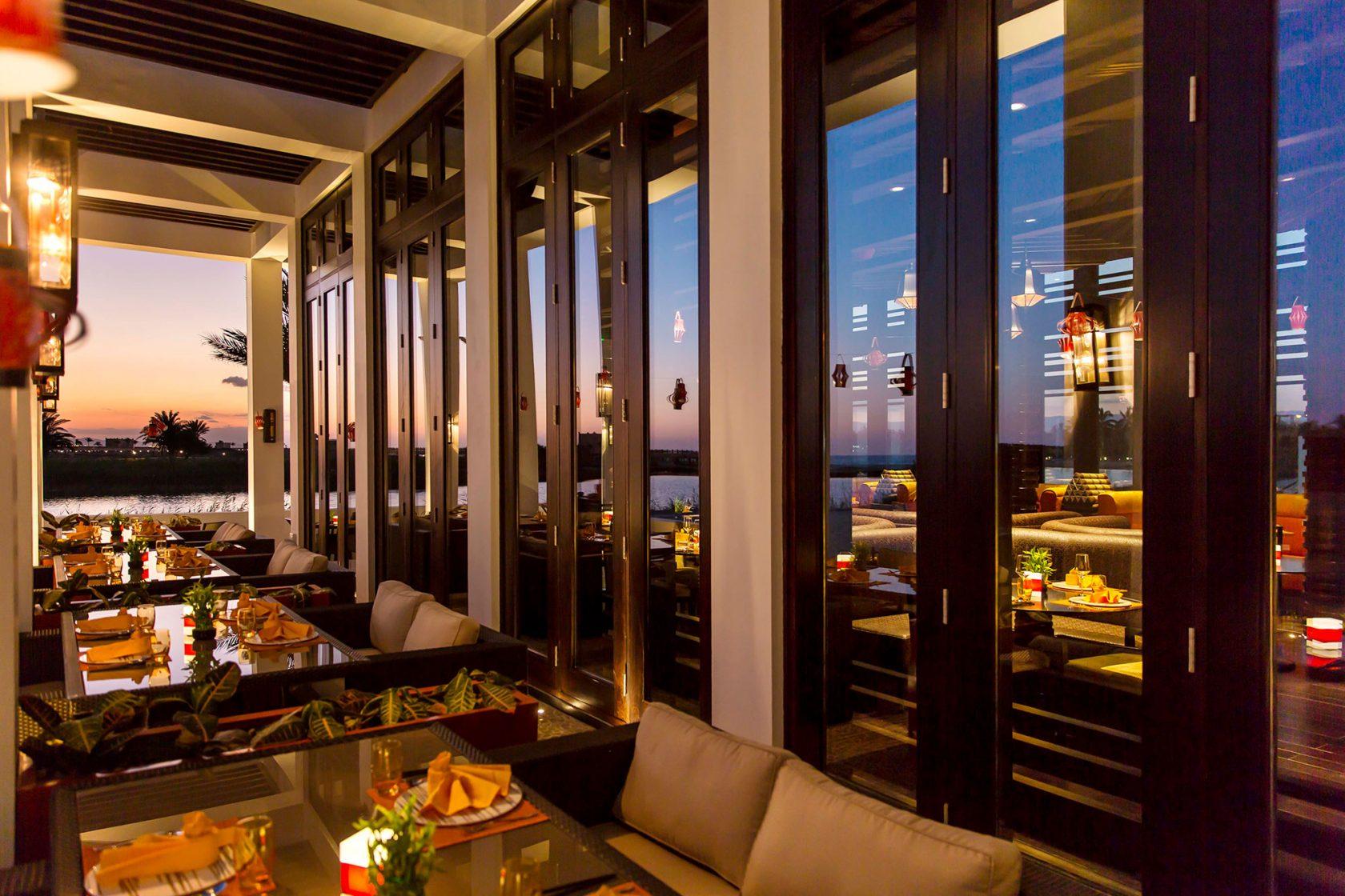 Al Baleed Resort by Anantara Mekong Terrace night
