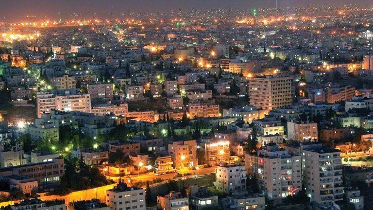 Four Seasons Amman bei Nacht