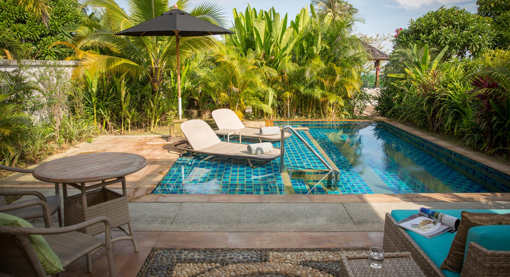 Private Terrasse mit Pool im Robinson Khao Lak