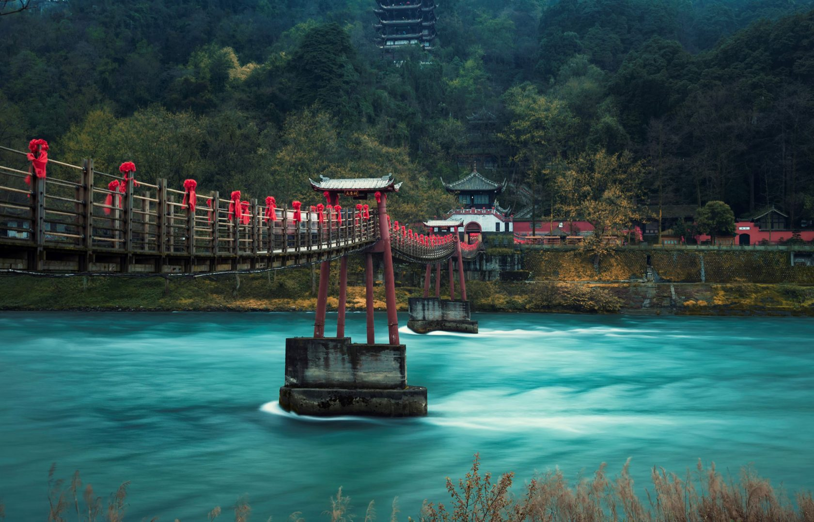 Six Senses Qing Cheng Mountain Ausflug Amatory Bridge