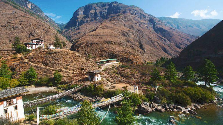 Six Senses Paro, Bhutan – Iron Chain Bridge Tachog Lhakhang Dzong