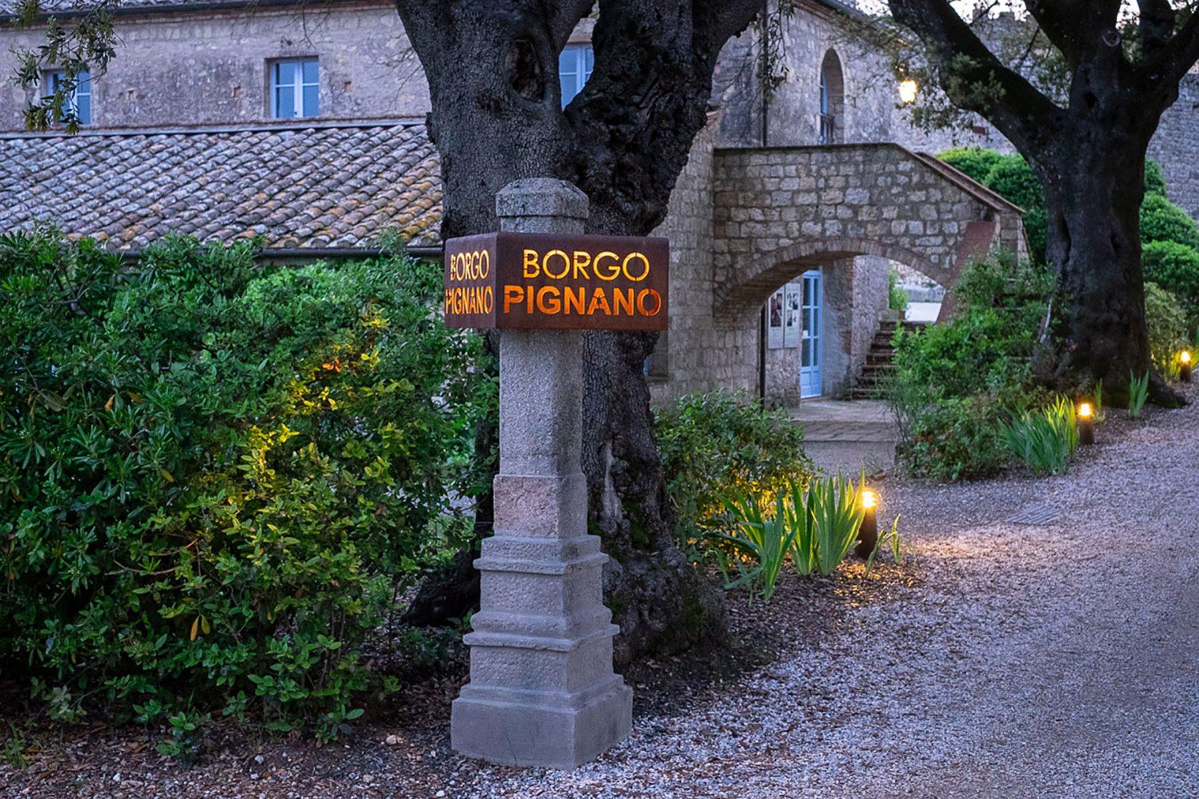 Borgo Pignano Willkommen
