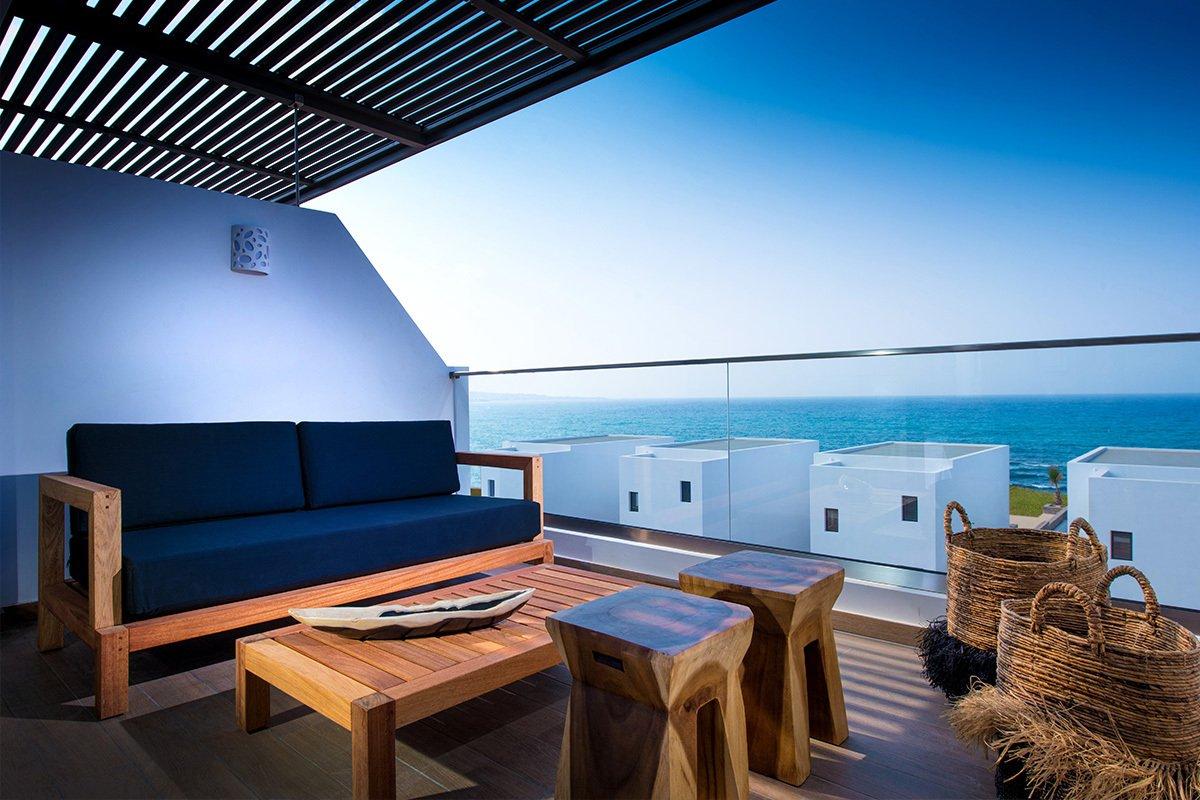 Abaton Island Resort Kreta – Ausblick vom Balkon
