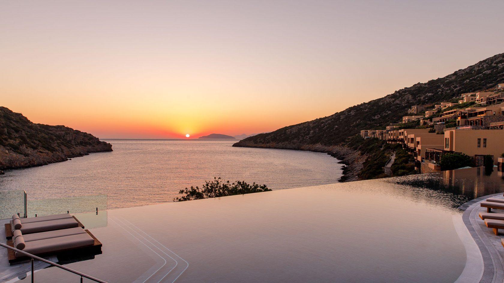 Daios Cove Luxury Resort & Villas, Kreta – Am Abend