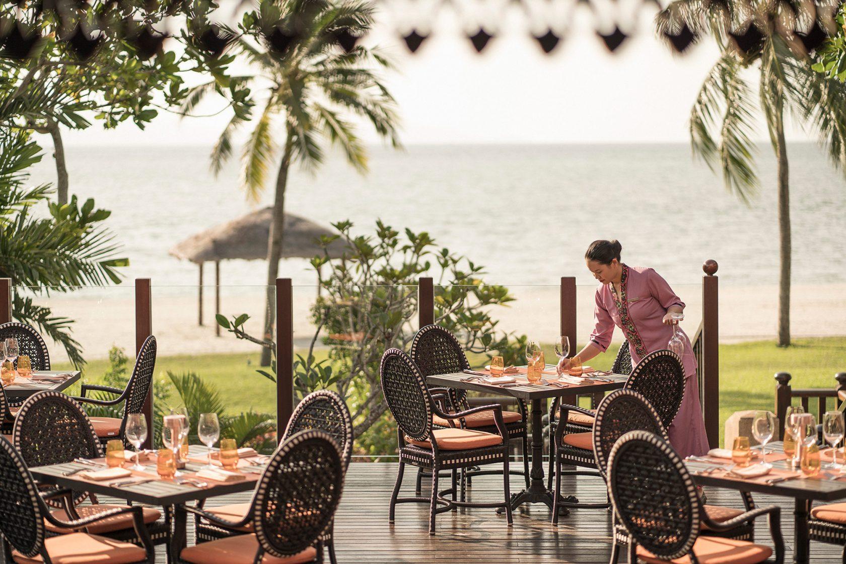 Four Seasons Langkawi – Terrasse des Restaurant Ikan-Ikan