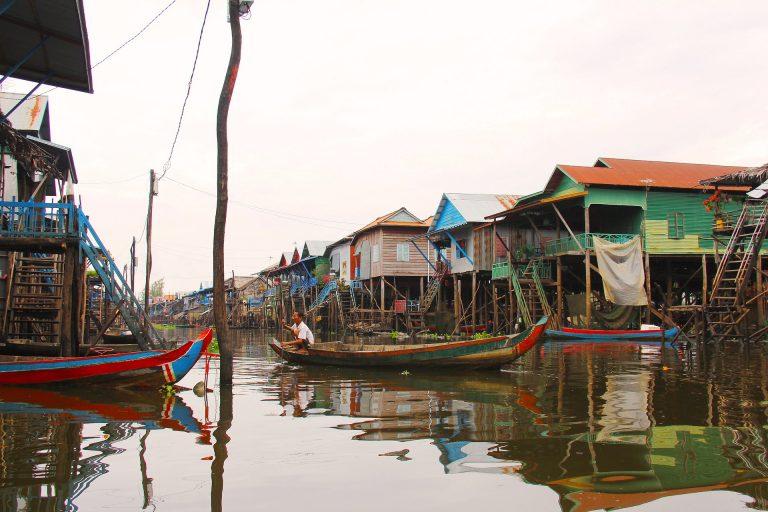 Mekong Flusskreuzfahrt Vietnam/ Kambodscha, Heritage Line: Schwimmende Häuser, Phahlbauten / Kompong Phluk
