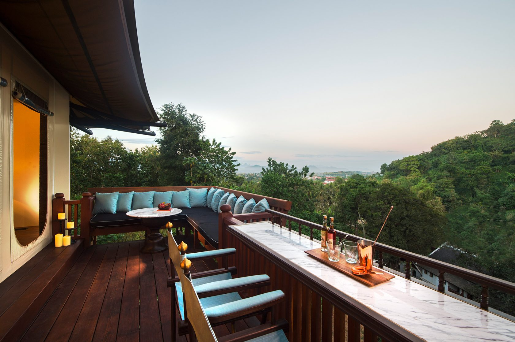 Rosewood Luang Prabang, Luxushotel Laos – Hilltop Tent Aussicht
