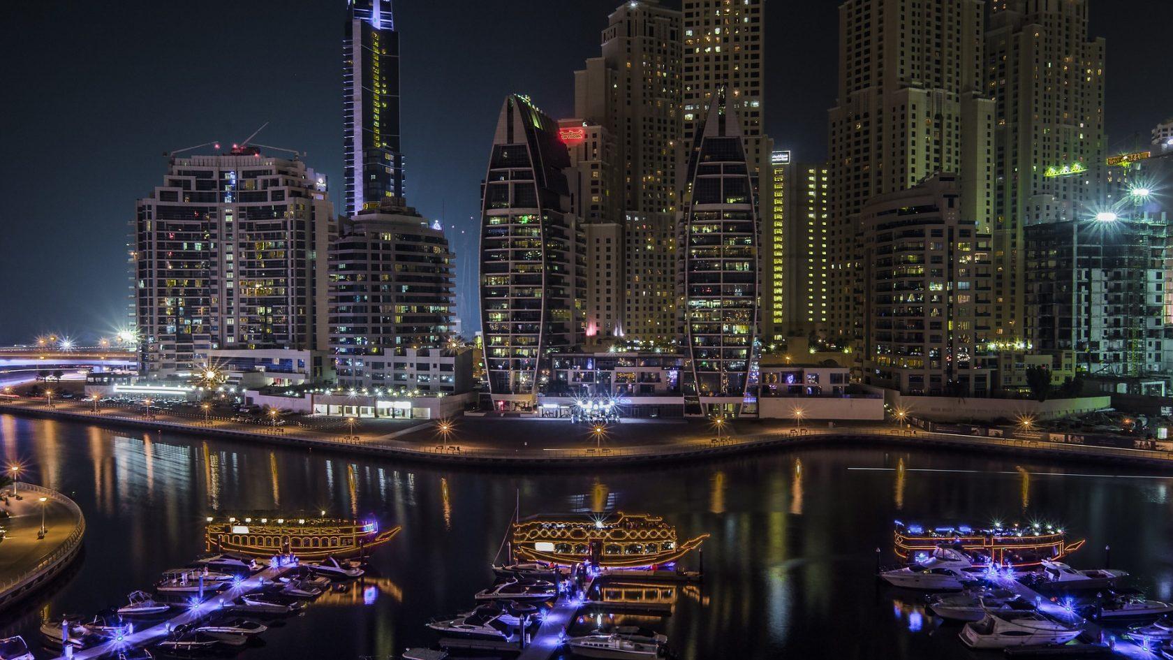 Dubai Skyline nachts