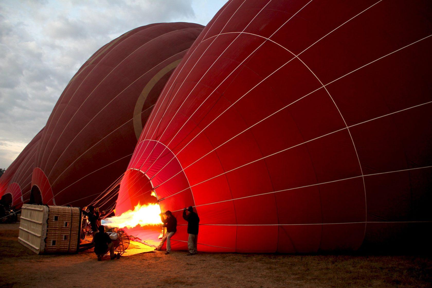 Privatreise, private Rundreise Myanmar: Ballonfahrt Bagan