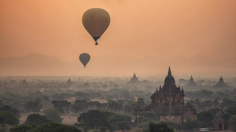 Privatreise, private Rundreise Myanmar: Heissluftballon